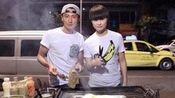 李宇春助阵《十二道锋味》与谢霆锋街头吃烧烤
