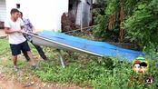 农人生活日常VLOG 家门口要铺水泥路,宽3米厚度18公分,下雨天再也不会两脚泥巴了