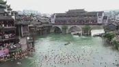 湖南 小长假最后一天 各地景区人气不减 岳阳:第十五届中国汨罗江国际龙舟节开幕