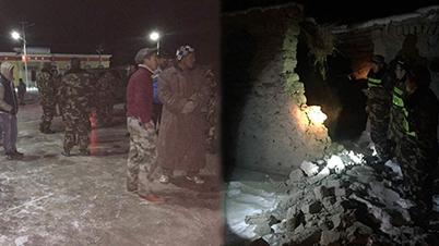 11月25日22时24分在新疆阿克陶县发生6.7级地震,震源深度10千米,暂无人员伤亡报告。