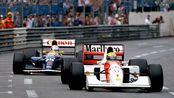 【F1】1992塞纳VS曼塞尔-摩纳哥站最后5圈史诗对决-James Hunt与Murray Walker解说