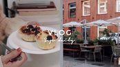 【of life】 九月末的两日 | 下班觅食| 台风天在上海 | 武康路brunch | 拆包裹 | 早餐 玉子烧| 制作蓝莓麦芬| Sanne Vlog17