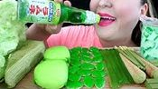 【pink】绿色食品绉蛋糕可食用冰淇淋,火柴,果冻面,口香糖,波奇基特巧克力(2019年9月20日6时31分)