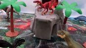 侏罗纪世界 恐龙探险火山之战和恐龙越狱 儿童玩具
