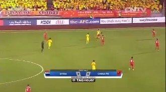 国足世界杯亚洲区预选赛:叙利亚2-2中国 比赛集锦