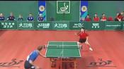 回顾:2000世乒赛中,刘国正对战卡尔松,那时候的状态真好