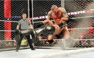 【WWE】赛斯罗林斯 vs. 兰迪奥顿(极限规则 2015)