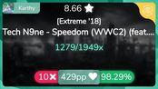 [8.67Live] Karthy | Tech N9ne - Speedom [Extreme '18] 98.29% {#1 Loved 10} - o
