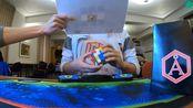 Stanley Chapel四盲官方单次1分06.23秒世界纪录!使用魔方:傲速GTS2M