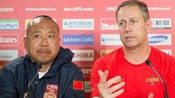 亚洲杯中国赢得开门红 佩兰镇静翻译赵旭东激动