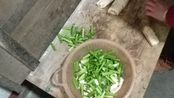 2020年1月12日山东农村早饭家常菜做饭过程