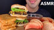 【Saudi】cheeseburger和hash browns;eating sounds;barqar的声音(2019年10月14日16时45分)