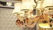 元柏 欧式吊灯简欧客厅吊灯餐厅吊灯奢华大气水晶灯卧室灯温馨灯饰锌合金别墅复式楼灯具 6头吊灯 (上门安装) 赠送三色LED光源