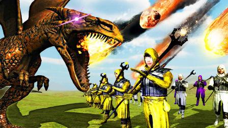 【屌德斯解说】 野兽战争模拟器 全新魔法师和巨型喷火龙登场!宇宙魔法简直毁天灭地秒杀巨龙!