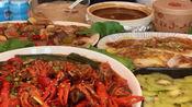 吃播:美食鲍鱼汁捞饭、小龙虾、螺蛳粉、可乐鸡翅、青菜