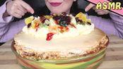 【saltedcaramel】助眠:美味的失败的巴甫洛娃,上面点缀着奶油、果酱和水果|吃东西的声音|低语(2019年12月27日0时31分)
