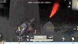 荒野行动黑夜模式第一次使用AWM狙击枪击倒敌人,一枪就倒!