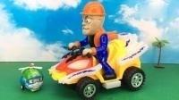 变形警车海利玩熊出没光头强电动汽车玩具 25