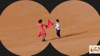 爸爸去哪儿 第四季 庆庆牵蔡爸爬沙丘 父子协力越沙漠