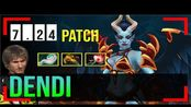 Dendi - Queen of Pain MID | 7.24 Update Patch | Dota 2 Pro MMR Gameplay #30