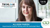Allison Parrish Interview - Experimental Creative Writing with the Vectorized