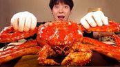 【sio】慕邦★大红帝王蟹3公斤!!★海鲜真声美食秀[SIO助眠](2019年10月15日21时45分)