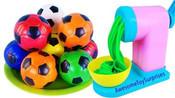 益智学习:面条机 小足球,做彩色面条玩玩
