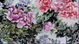李兴福国画牡丹--十米长卷牡丹图谱