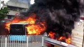 【TOP10】南昌公交车着火男子被烧死 SUV失控飞跃护栏