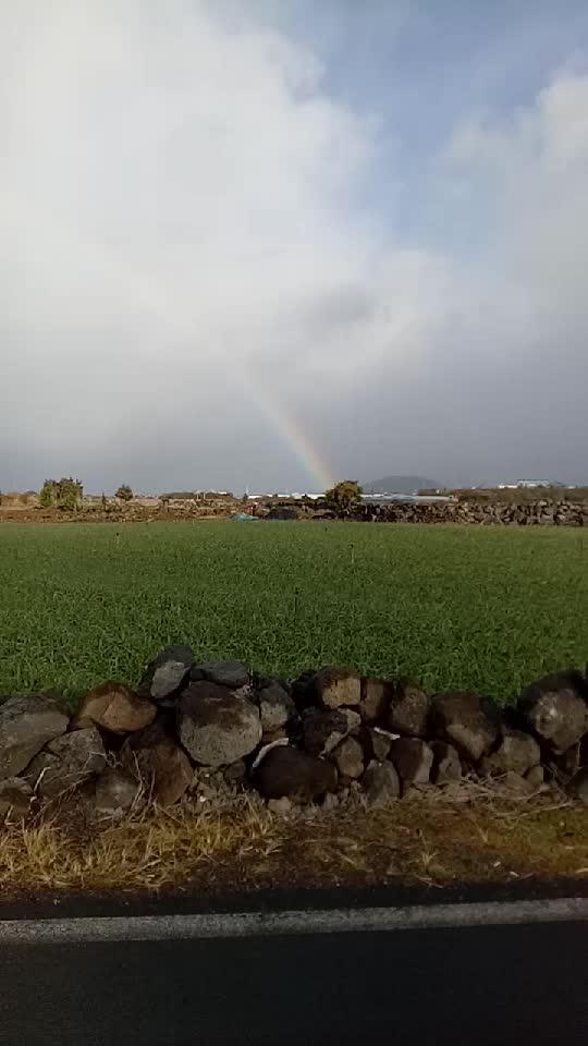 韩国济州岛的彩虹