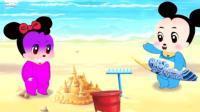 米老鼠和唐老鸭换头像之猫和老鼠做朋友之爱搞笑的米妮和米奇动画玩具视频85