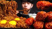 【chan sori】SUB)松露Zapaghetti和调味鸡肉Meokbang(2020年3月23日18时47分)