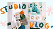 【vlog】画室日常 ★ 画一些小动物 ★ 迷你画廊盒子 | Leigh Ellexson