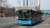 """[夜景pov:9]蠕动的""""BRT""""一济南公交BRT-3号线(黄岗路一全福立交桥西)前方展望"""