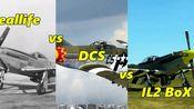 战斗模拟飞行游戏哪家强?P-51战斗机横向评测真机 .vs.IL-2 BOX系列 . vs. DCS系列