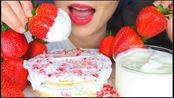 【lychee】圣诞早餐,薄煎饼,重奶油,大草莓,巧克力牛奶(2019年12月25日13时30分)