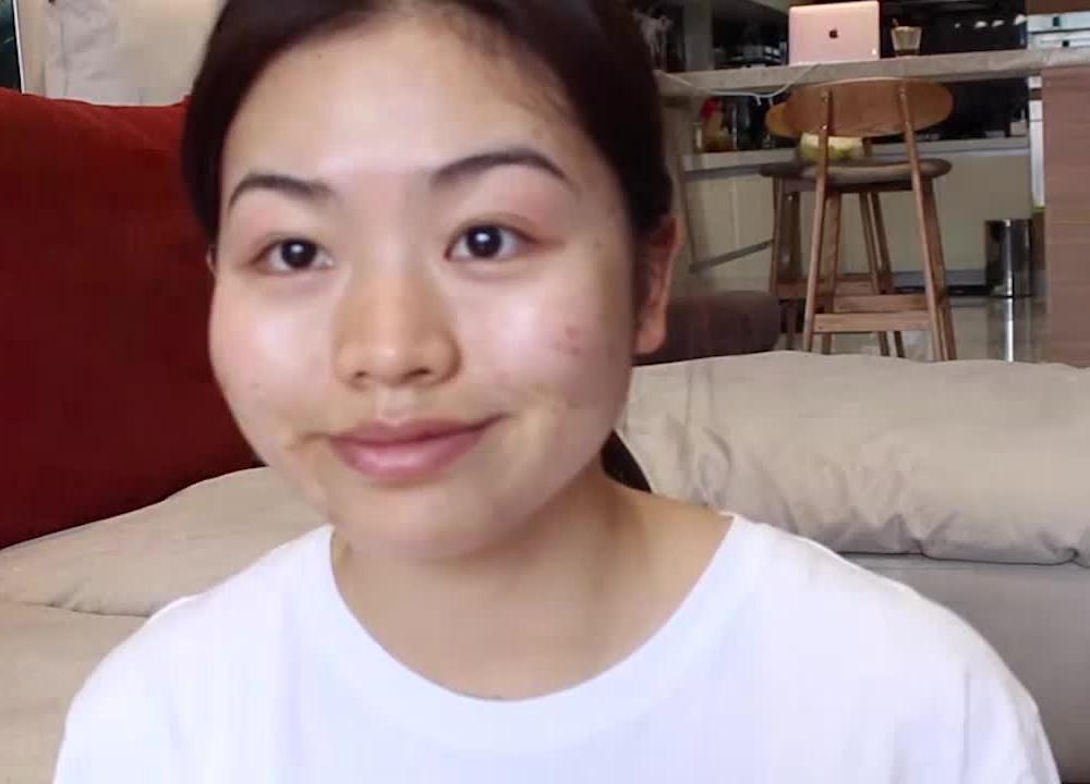 妹子长得挺普通的,化妆修颜后,颜值一点不比明星差