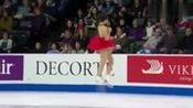 小姐姐本田真凛红衣滑冰秀,技术好,长得也好看