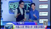 """V曝光:中国210所""""野鸡大学""""完整名单曝光"""