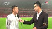 足球之夜:北京人和球员冯仁亮接受采访,他们将全力以赴对战上港