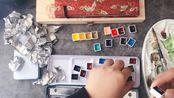 【石墨绘材铺】荷尔拜因24色1.5ml分装开箱,卡槽铁盒的正确打开方式