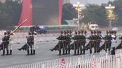 2019年9月9号星期一5点49分,北京天安门升国旗仪式