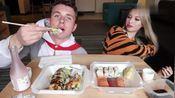 美国吃货情侣Harrison and Sophia今天吃美味的寿司和日本小吃啦