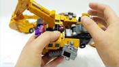 变形金刚_建设装备汽车玩具_黄锦江构造汽车机器人变身玩具卡车玩具【俊和他的玩具们_1
