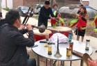 农村办事,唢呐与锣鼓演奏《小三赶脚》,配合的非常完美
