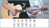 《红玫瑰》/《白玫瑰》陈奕迅-吉他教学-大树音乐屋-吉他谱-娜塔莎JC4全单板吉他