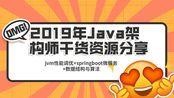 2019年Java架构师干货资源分享(jvm性能调优+springboot微服务+数据结构与算法)