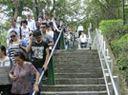 上慈湖下山老年人可乘升降车下山精彩段