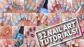 2p~【cutepolish】28 + 32 美甲教程NAIL ART TUTORIALS! _ Nail Art Designs Compilation