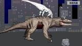 恐龙之战动画:一群恐龙大战不灭孽蜥